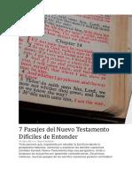 7 Pasajes Del Nuevo Testamento Difíciles de Entender