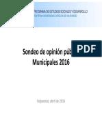 Opinion Pública Municipales 2016