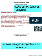 Adm Estratégica de Serviços Unifap Aula011