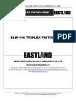 ElW 446 440 Triplex Piston Pump