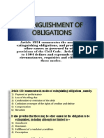 Extinguishment of Obligations