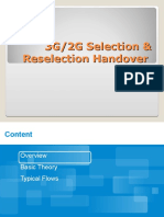 3G 2G Selection,Reselection&Handover