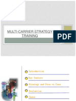 UMTS Multi Carrier Strategy Training