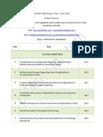 Dotnet IEEE Projects Titles 2017-2018   Dotnet IEEE Projects 2017-2018