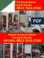0812-7616-2566 (Tsel)   Distributor Mesin Cetak Paving denpasar