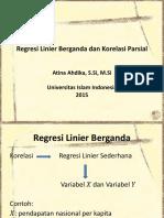 Kuliah 8 Regresi Linier Berganda Dan Korelasi Parsial