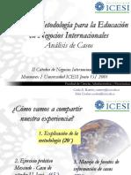 Metodologia Para La Educacion en Negocios Internacionales, Analisis de Casos