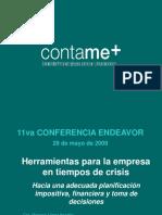 Herramientas Para La Empresa en Tiempos de Crisis.