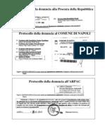 Ricevute Denuncia Procura Repubblica notificata alle maggiori Istituzioni - Novembre 2008