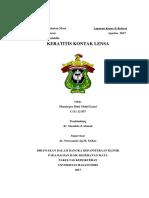 Laporan Kasus Keratitis Kontak Lensa