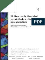 Identidad Etnicidad Ideal Postcolonialista