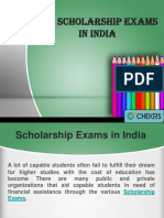 Top Scholarship Exams in India
