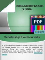 Top Scholarship Exams in India