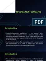 Operations Management Concepts
