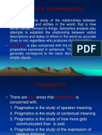 Semantics vs Pragmatics