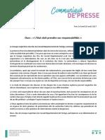Communiqué du Département de l'Ariège sur l'ours