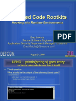 Defcon 17 - Managed Code Rootkits