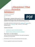 Electrlyte Imbalance