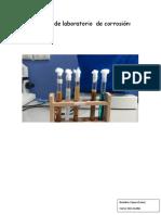 Informe de Laboratorio de Corrosión