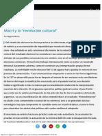 """Macri y La """"Revolución Cultural"""" Opinión Página12"""