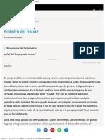 Poliedro Del Fraude Los Discursos de La Derecha