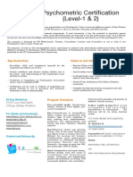 PsyCert Level 1and2 Brochure