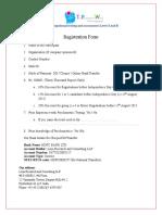 Psychometric Certification Program Registration Form