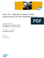 How to Migrate Custom Portal Applications to SAP NetWeaver 7
