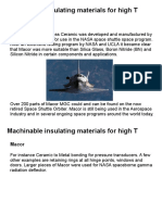 Machinable Materials High T