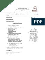 Avaliação Diagnóstica 6° ano 2014 PORT