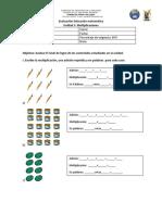 Evaluación Multiplicación Unidad 5