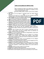 GRAN GLOSARIO  DE PALABRAS DE TIEMPOS ATRÁS