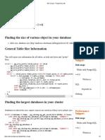 Disk Usage - PostgreSQL Wiki