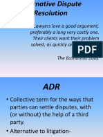 8. Alternative Dispute Resolution and Contract Law