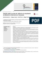 Empat a Seg n La Escala de Jefferson en Estudiantes de Medicina y Enfermer a en Venezuela 2015 Investigaci n en Educaci n M Dica