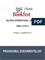 Catalog Evenimente Bookfest Chisinau 2017
