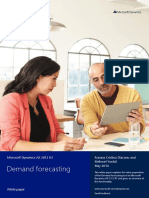 Demand Forecasting in AX 2012 R3