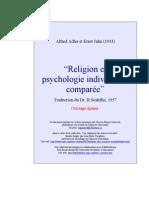 Alfred Adler - Religion et psychologie individuelles comparées