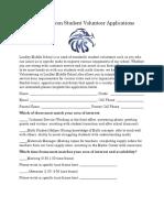 lindley falcon student volunteer applications
