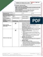 TEA - Permiso de Trabajo en Altura Instalacion Señalizacion en Operaciones Mina