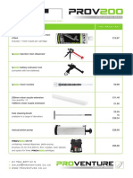 PRO V200 Price List 2017