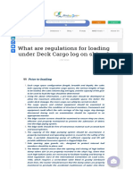 What Are Regulations for Loading Under Deck Cargo Log on Ships _