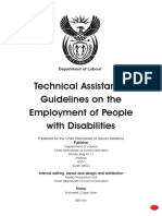 Guidelines on Employement of Disabled