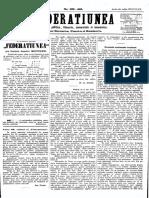 Federatiunea, 13 Decembrie 1870