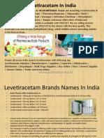 Levetiracetam in India