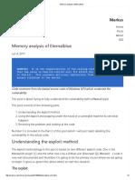 Memory Analysis of Eternalblue