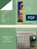 Calentador Solar Ecologico WEB