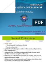 Materi Kuliah Manajemen Operasional