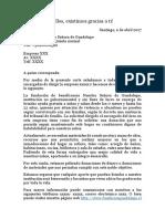 modelo carta fundación