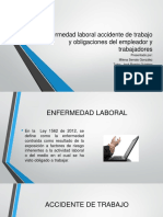 Enfermedad Laboral Accidente de Trabajo y Obligaciones Del